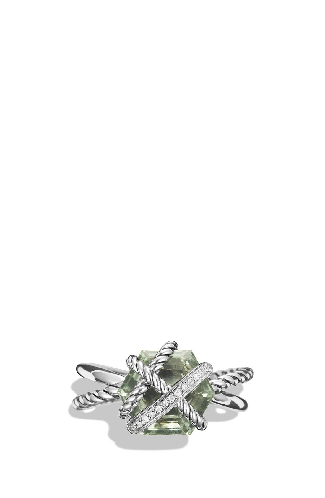 Alternate Image 2  - David Yurman Cable Wrap Ring with Semiprecious Stone and Diamonds
