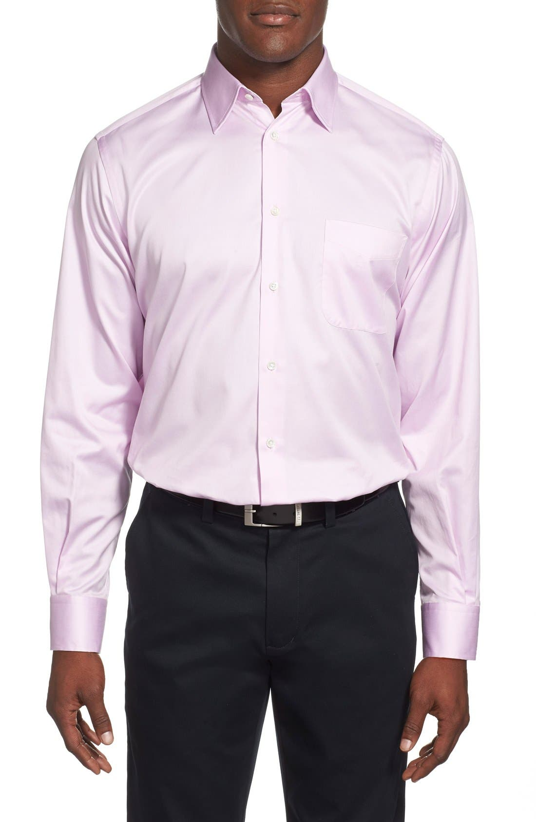 Alternate Image 2  - Ike Behar Regular Fit Solid Dress Shirt (Online Only)
