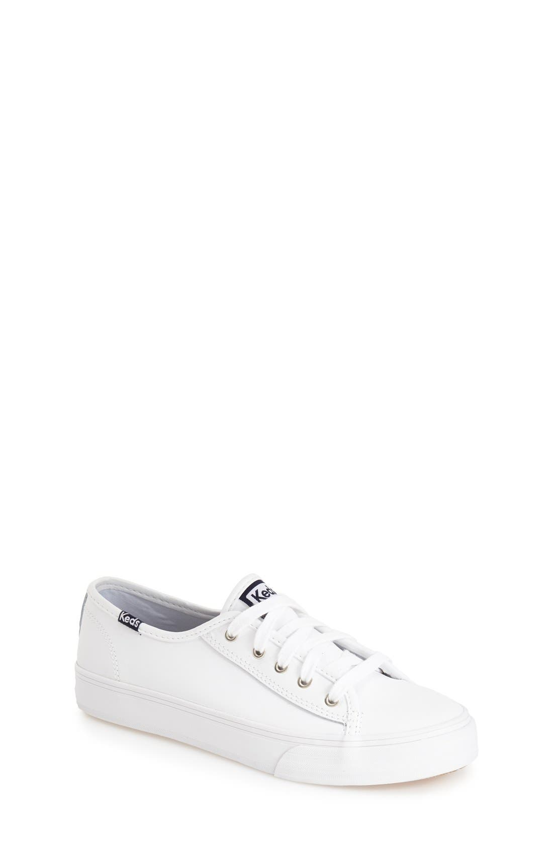 'Double Up' Sneaker,                             Main thumbnail 1, color,                             White