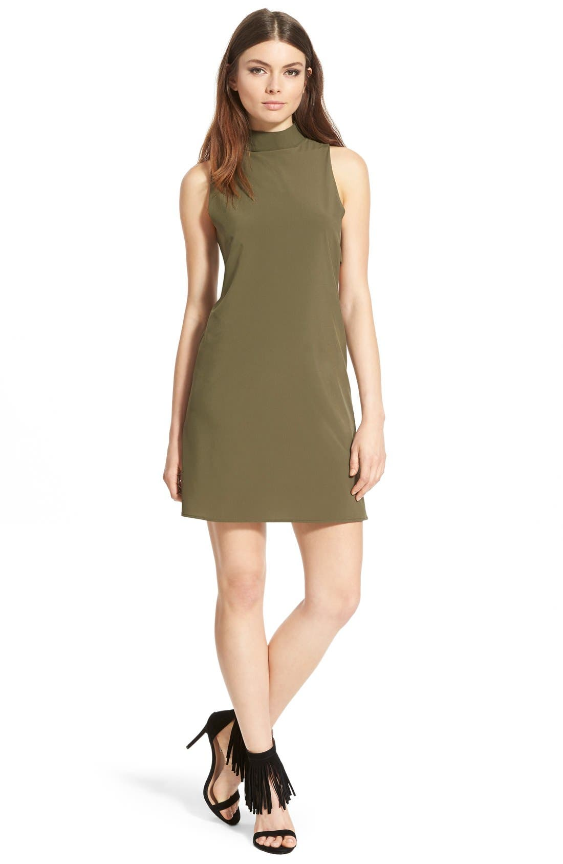 Main Image - 4SI3NNA 'Side Bar' Mock Neck Shift Dress