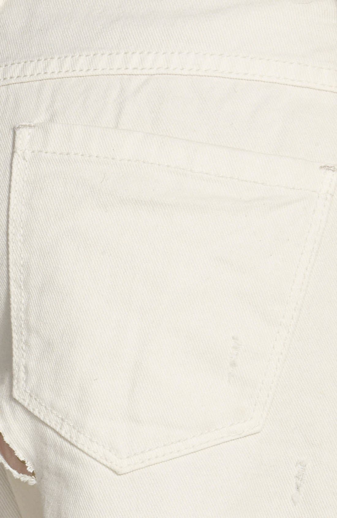 Alternate Image 3  - Free People 'Runaway' Cutoff Denim Shorts (Polar White)