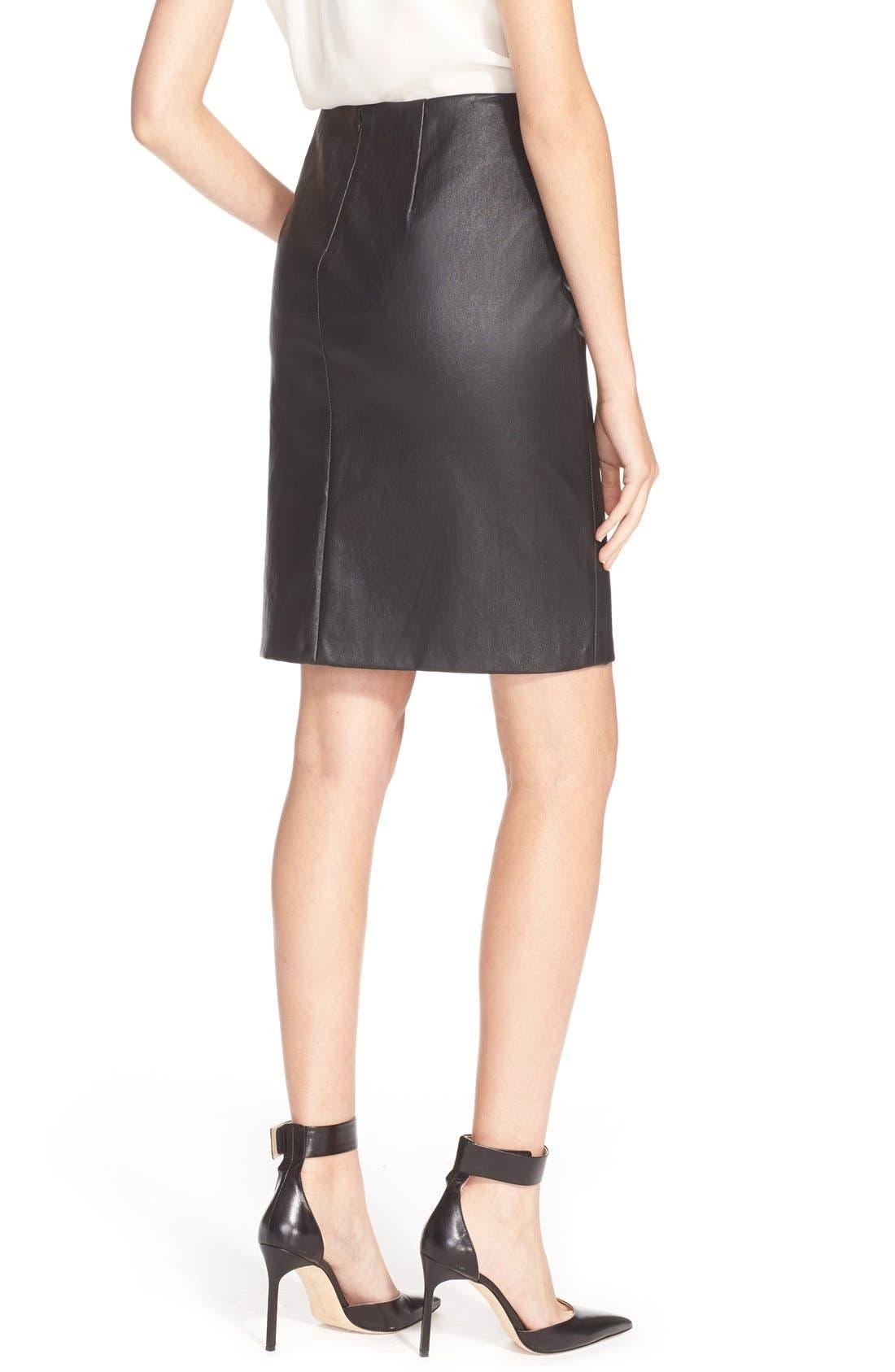 Alternate Image 2  - Diane vonFurstenberg'Cloe' Leather Pencil Skirt
