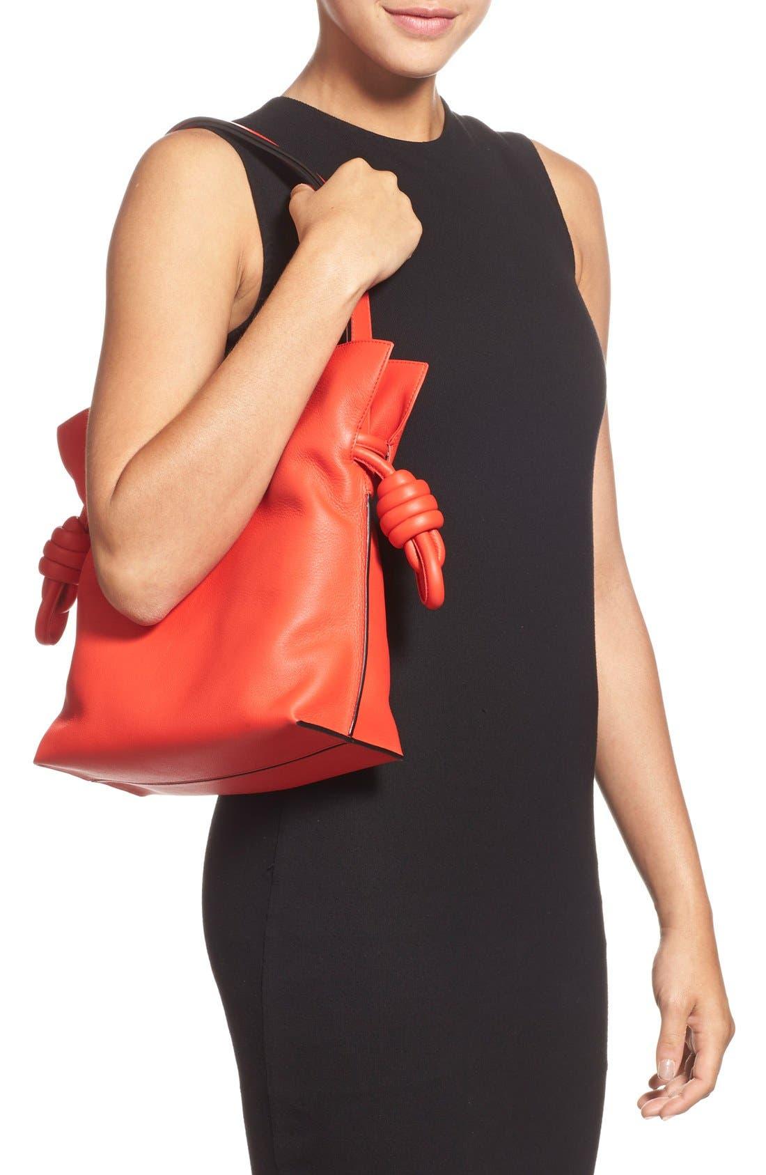 Alternate Image 2  - Loewe 'Small Flamenco Knot' Calfskin Leather Bag