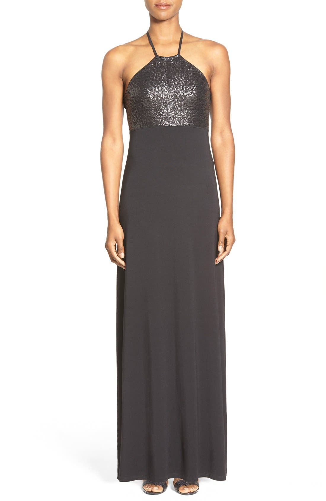 Alternate Image 1 Selected - Tommy Bahama Sequin Bodice Halter Maxi Dress