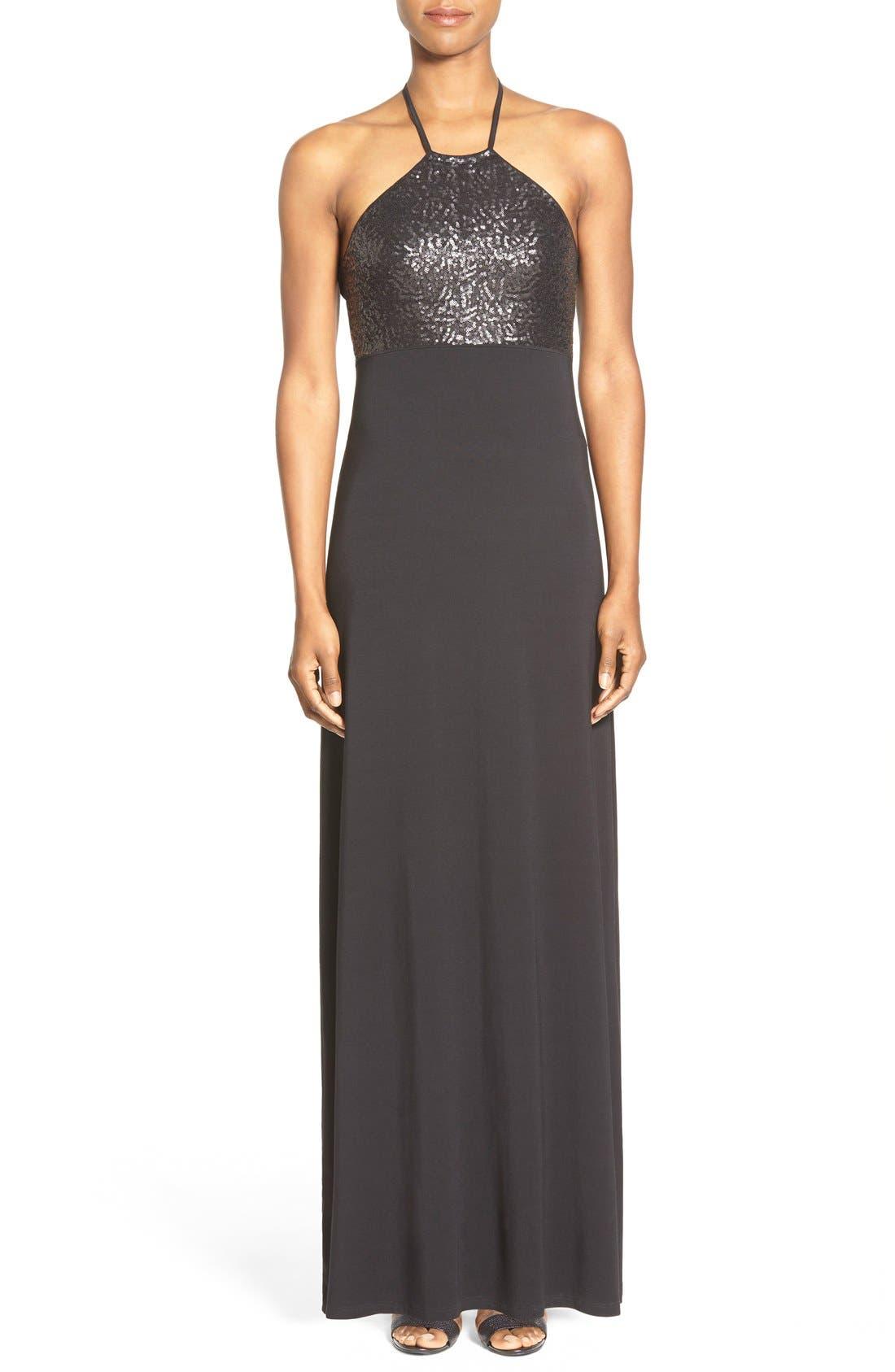 Main Image - Tommy Bahama Sequin Bodice Halter Maxi Dress