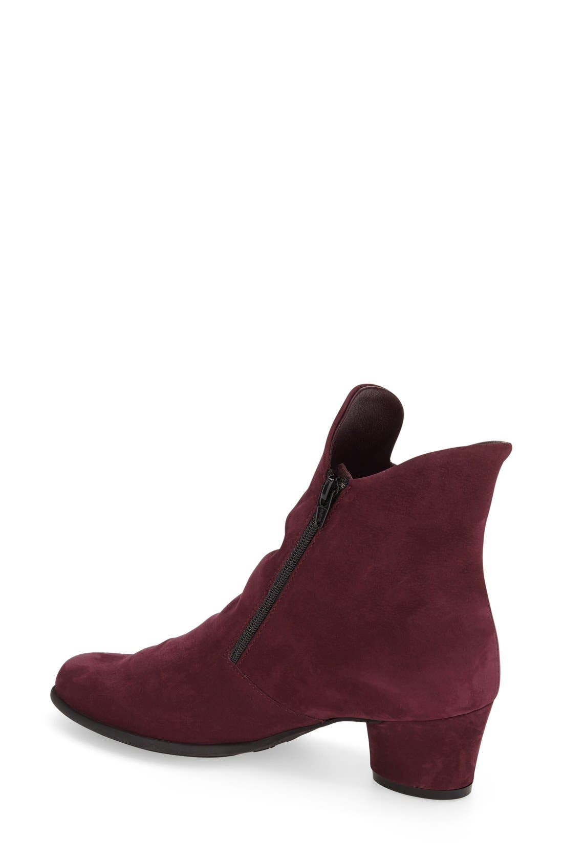 'Musaca' Boot,                             Alternate thumbnail 2, color,                             Berry Nubuck Leather
