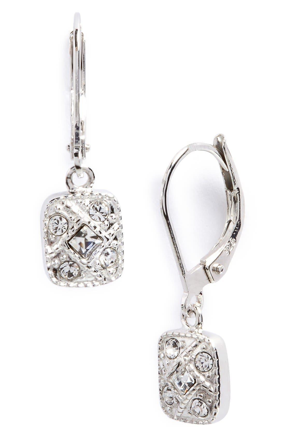 Judith Jack Square Drop Earrings