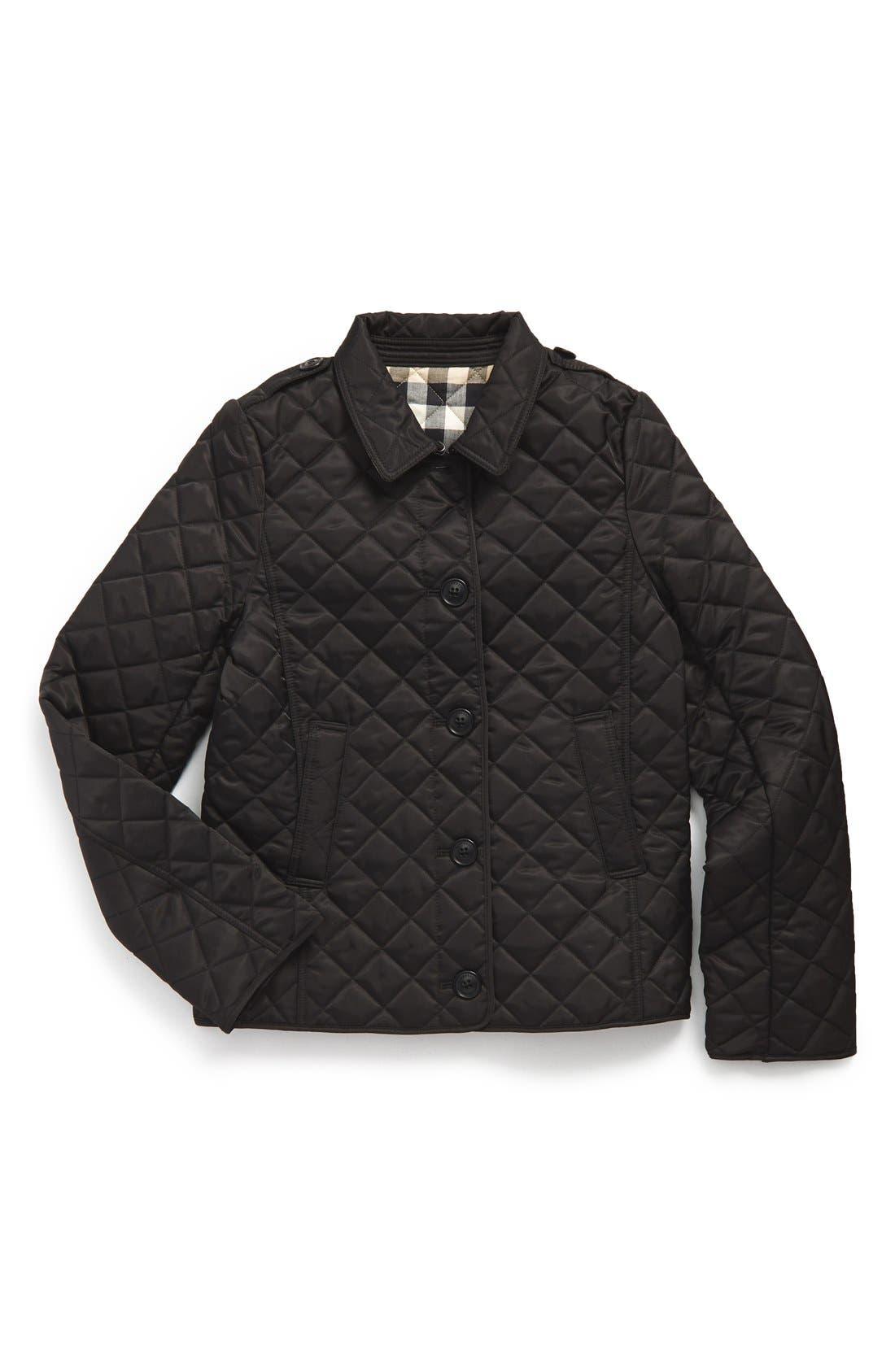 Main Image - Burberry'MiniAshurst'Quilted Jacket (Little Girls & Big Girls)