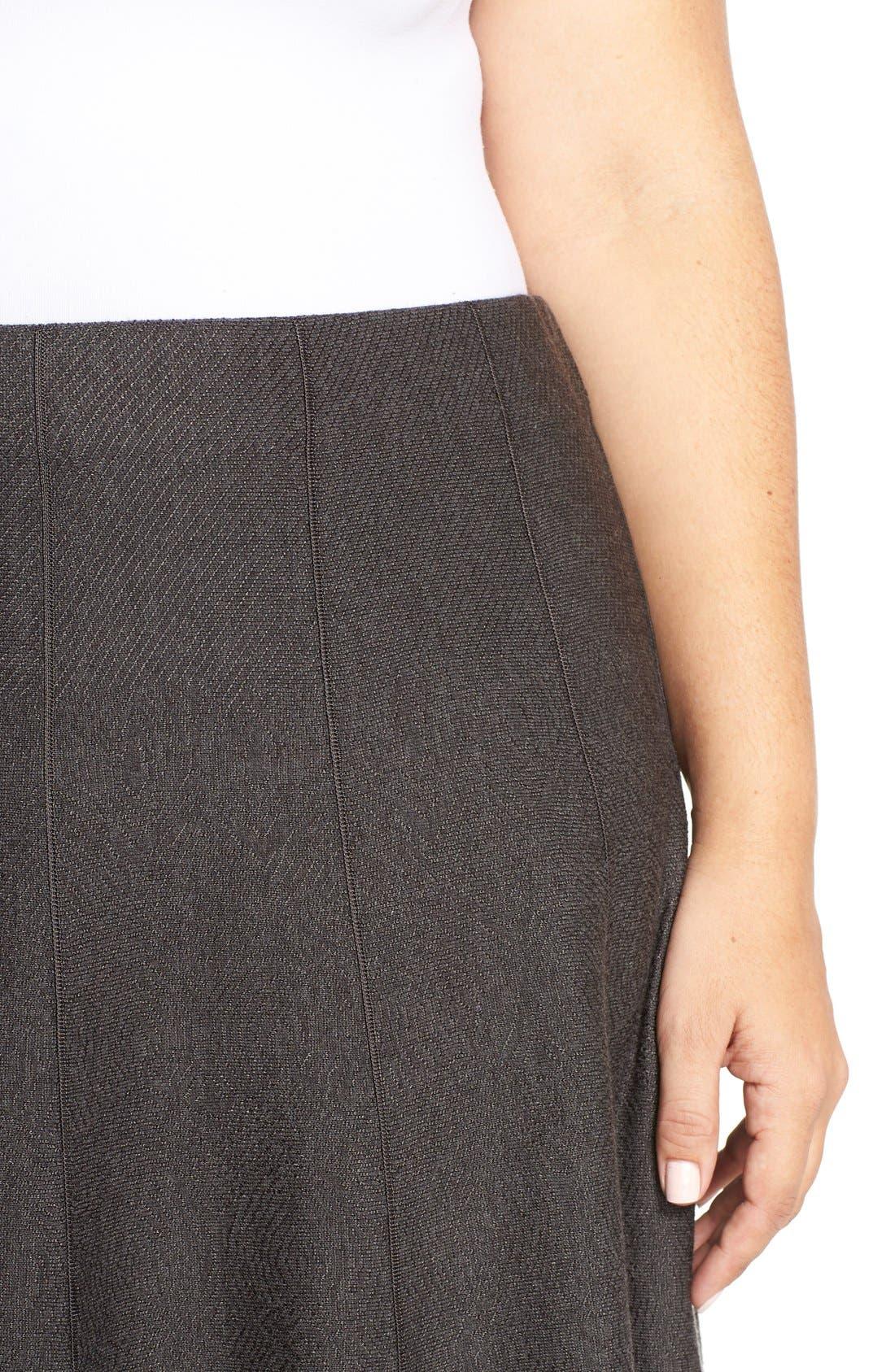 'Twirl Flirt' Paneled Skirt,                             Alternate thumbnail 4, color,                             Mushroom