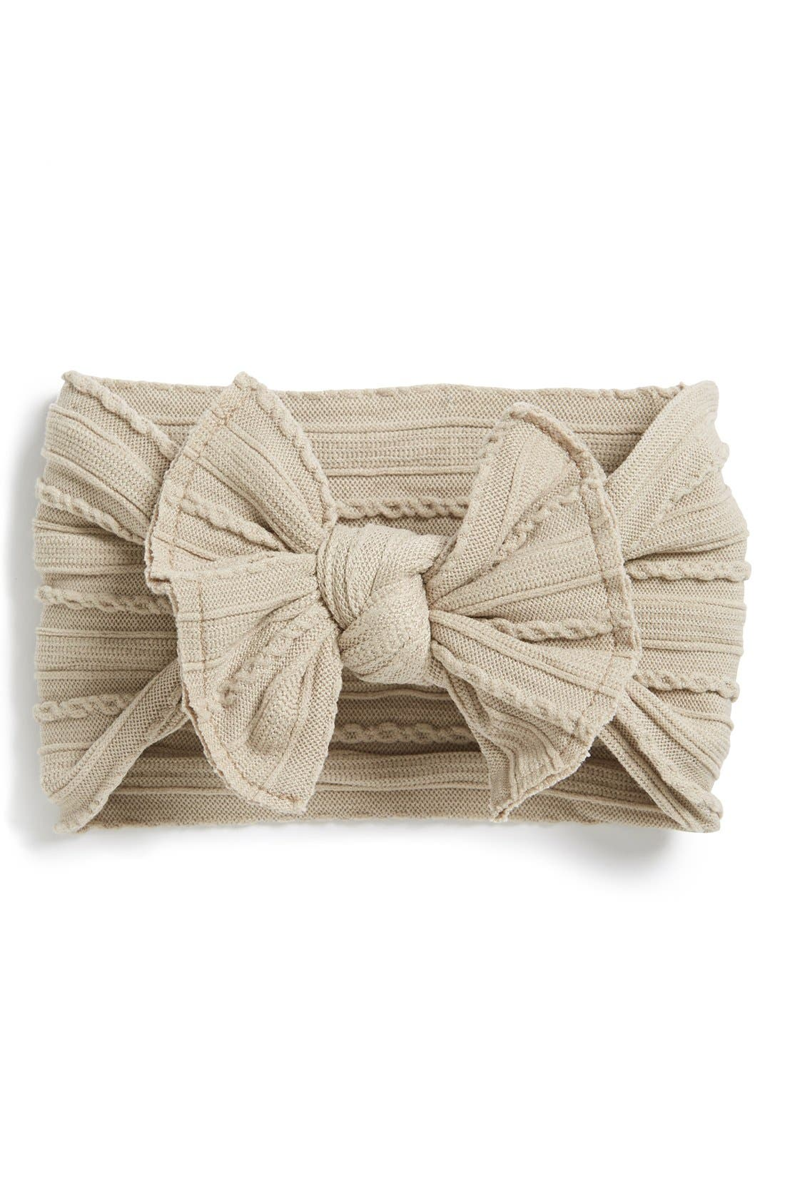 Baby Bling Cable Knit Bow Headband (Baby Girls) (3 for $30)