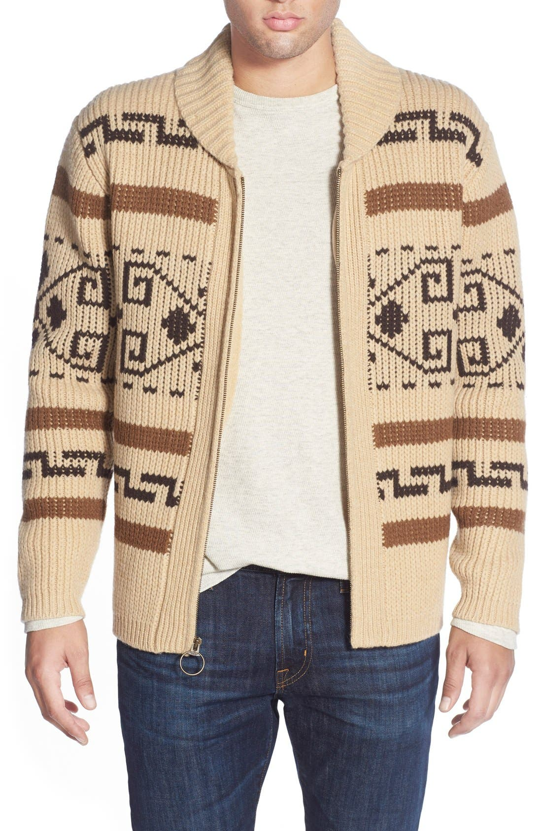 Pendleton 'Original Westerly' Shawl Collar Zip Sweater