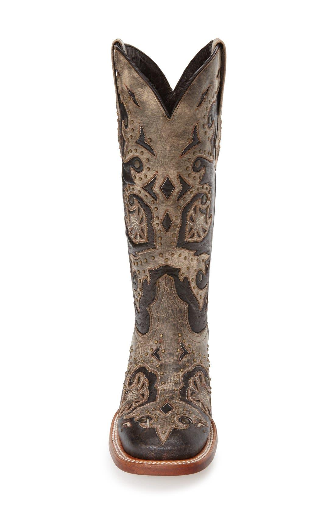 Alternate Image 3  - LuccheseStudded Western Boot (Women)