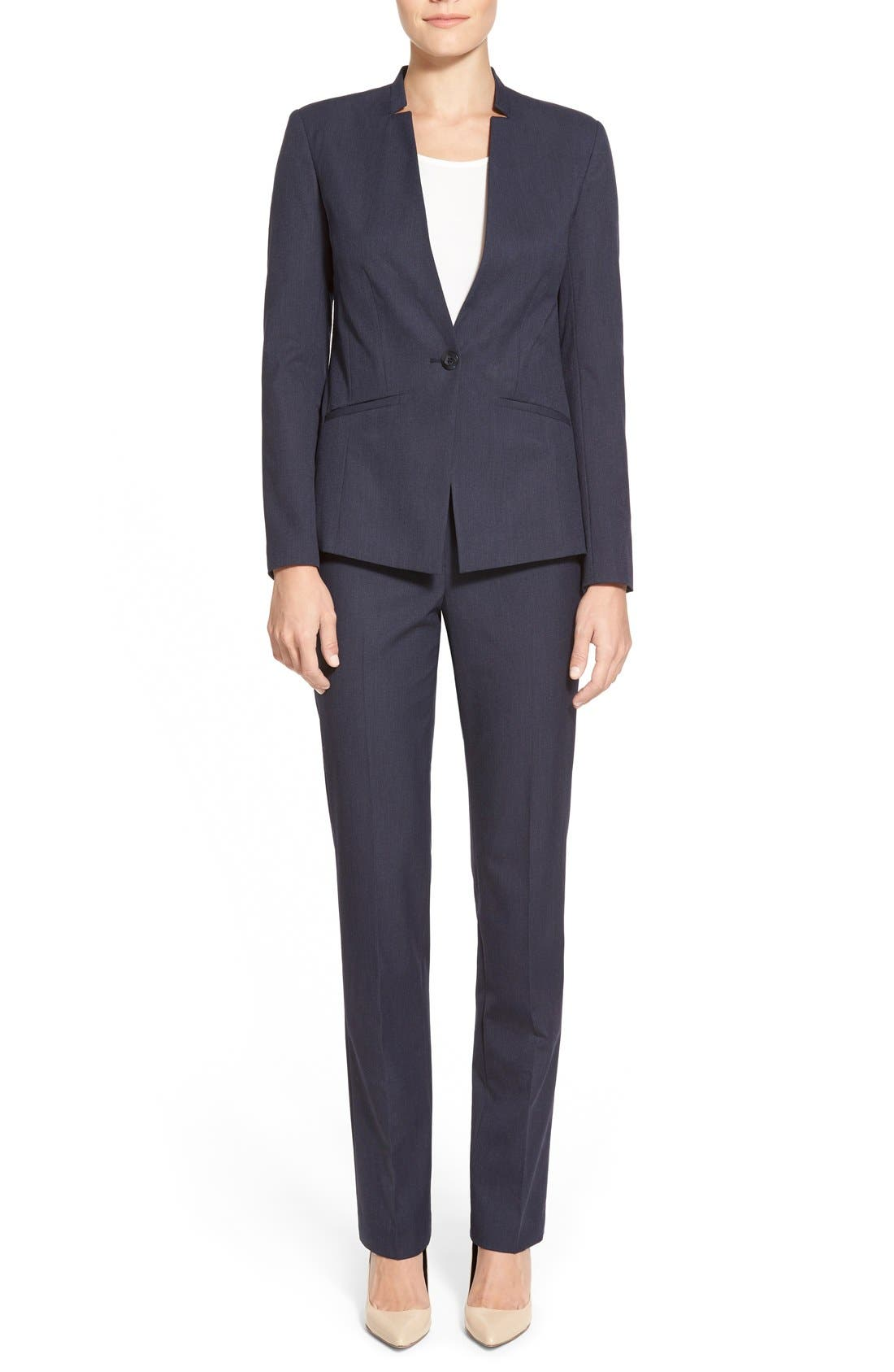 Alternate Image 6  - Halogen® 'Taylor' Stretch SuitPants (Regular & Petite)