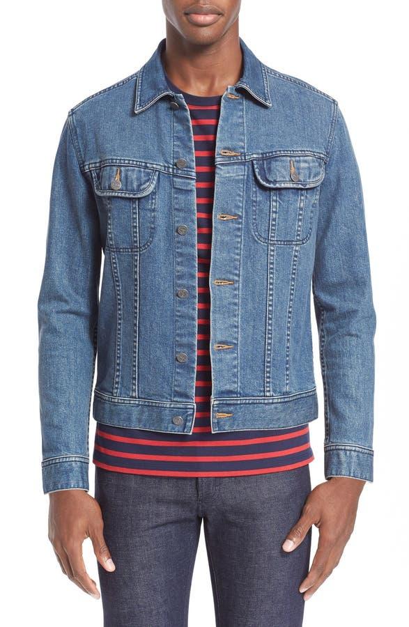 A.P.C. Washed Stretch Denim Jacket | Nordstrom