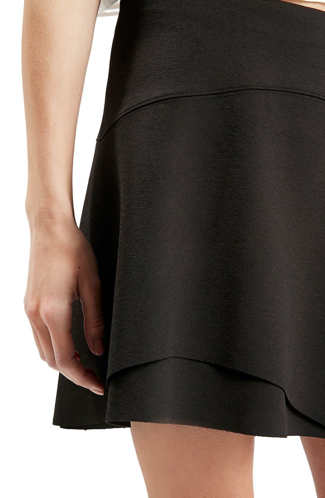 Alternate Image 5  - Topshop Curved Hem Skater Skirt