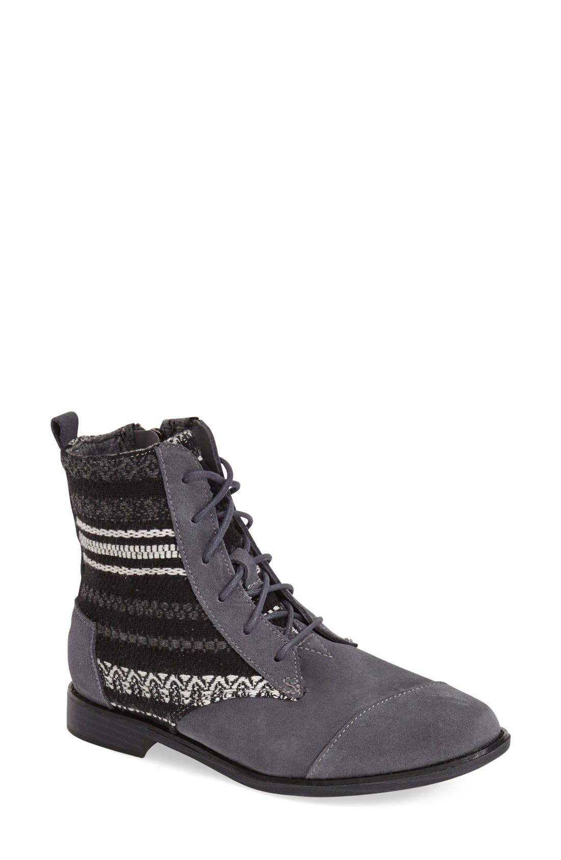 Main Image - TOMS 'Alpa' Water Resistant Suede Boot (Women)