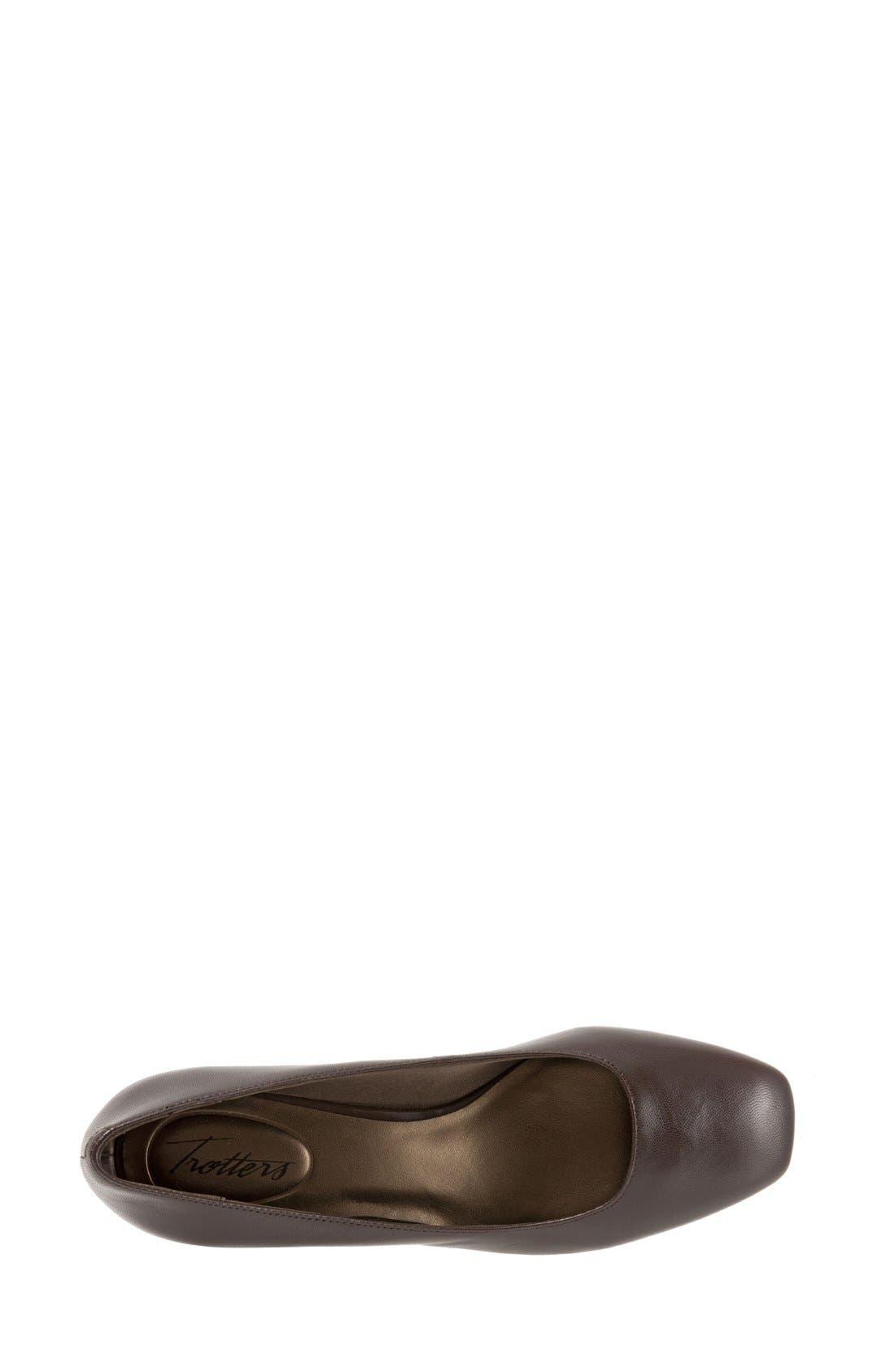 Lola Pump,                             Alternate thumbnail 3, color,                             Dark Brown Leather