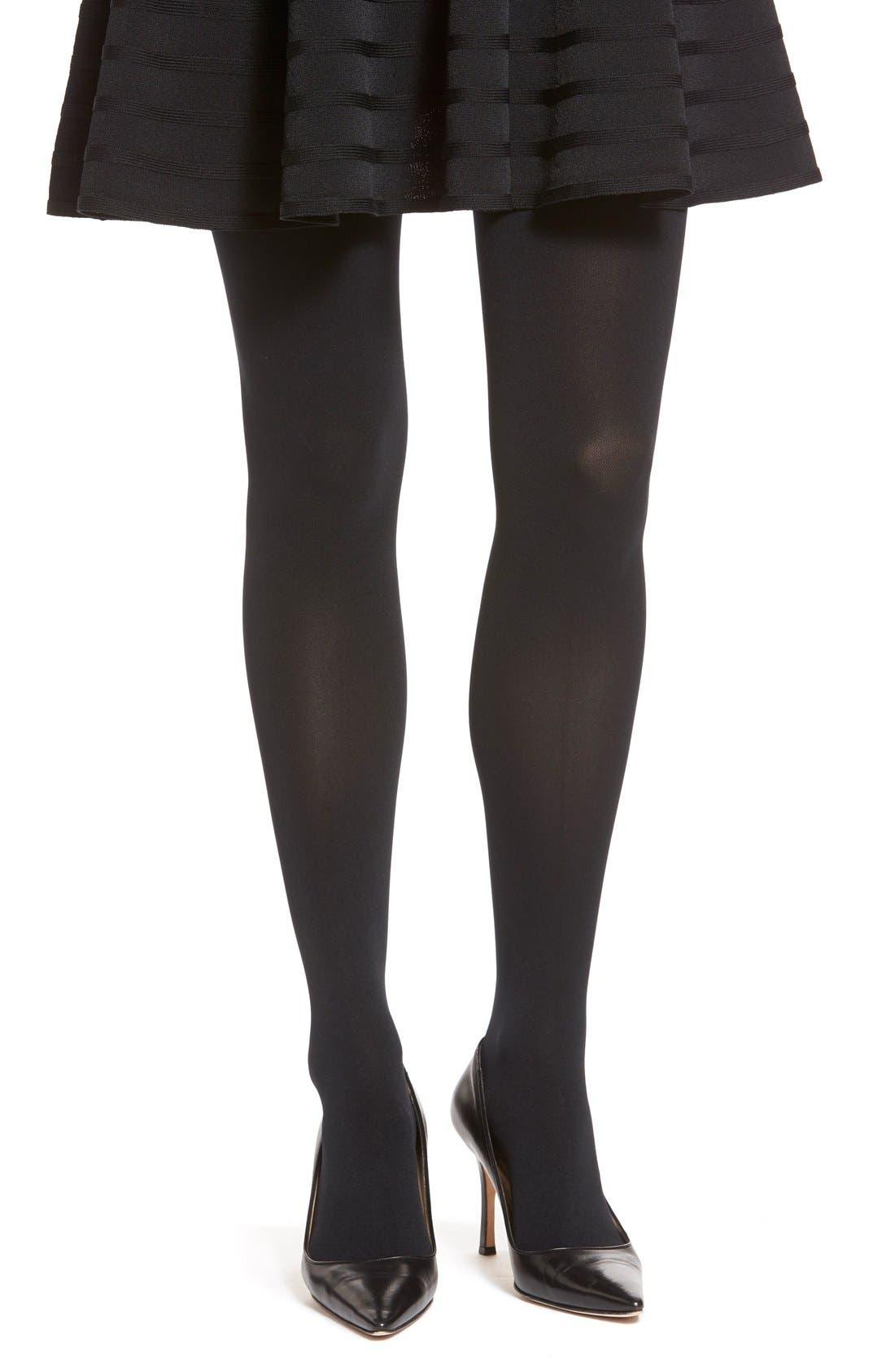 Opaque Tights,                         Main,                         color, Black