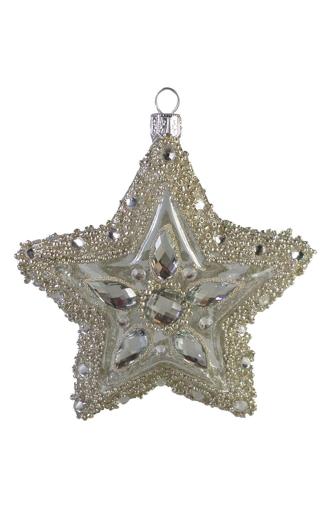 Alternate Image 1 Selected - Nordstrom at Home 'Sparkle Star' Handblown Glass & Crystal Ornament