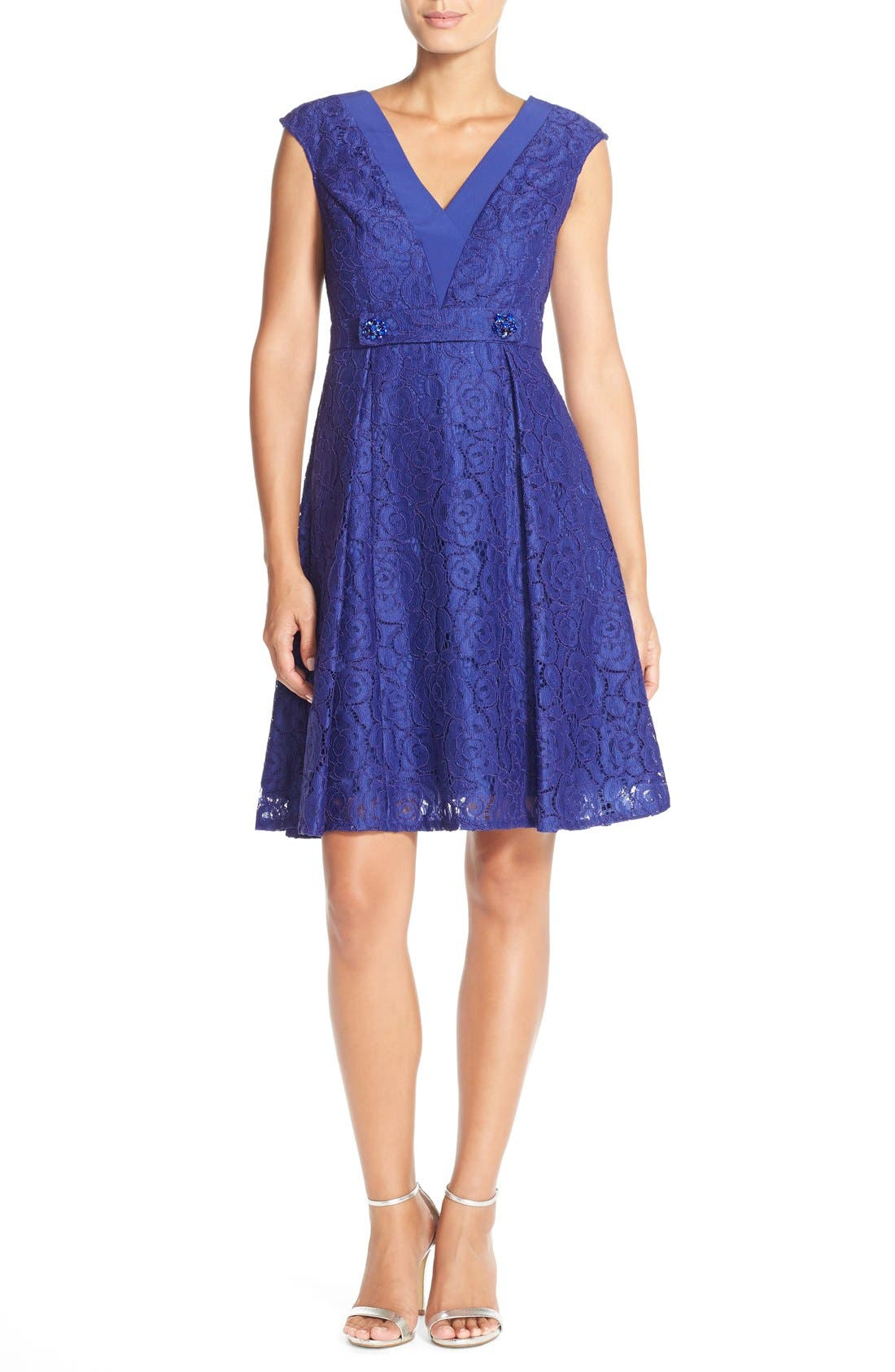 Alternate Image 4  - Adrianna PapellEmbellished Lace Fit & Flare Dress