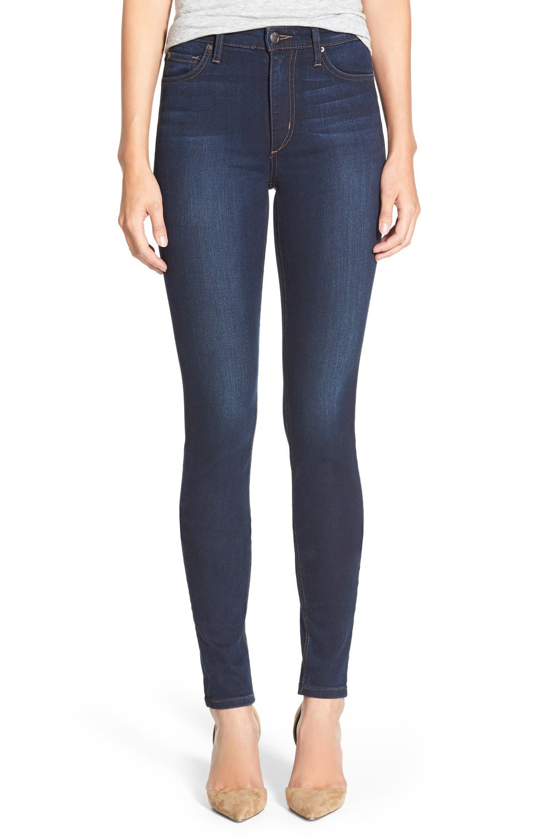 Alternate Image 1 Selected - Joe's 'Flawless - Charlie' High Rise Skinny Jeans (Cecily)