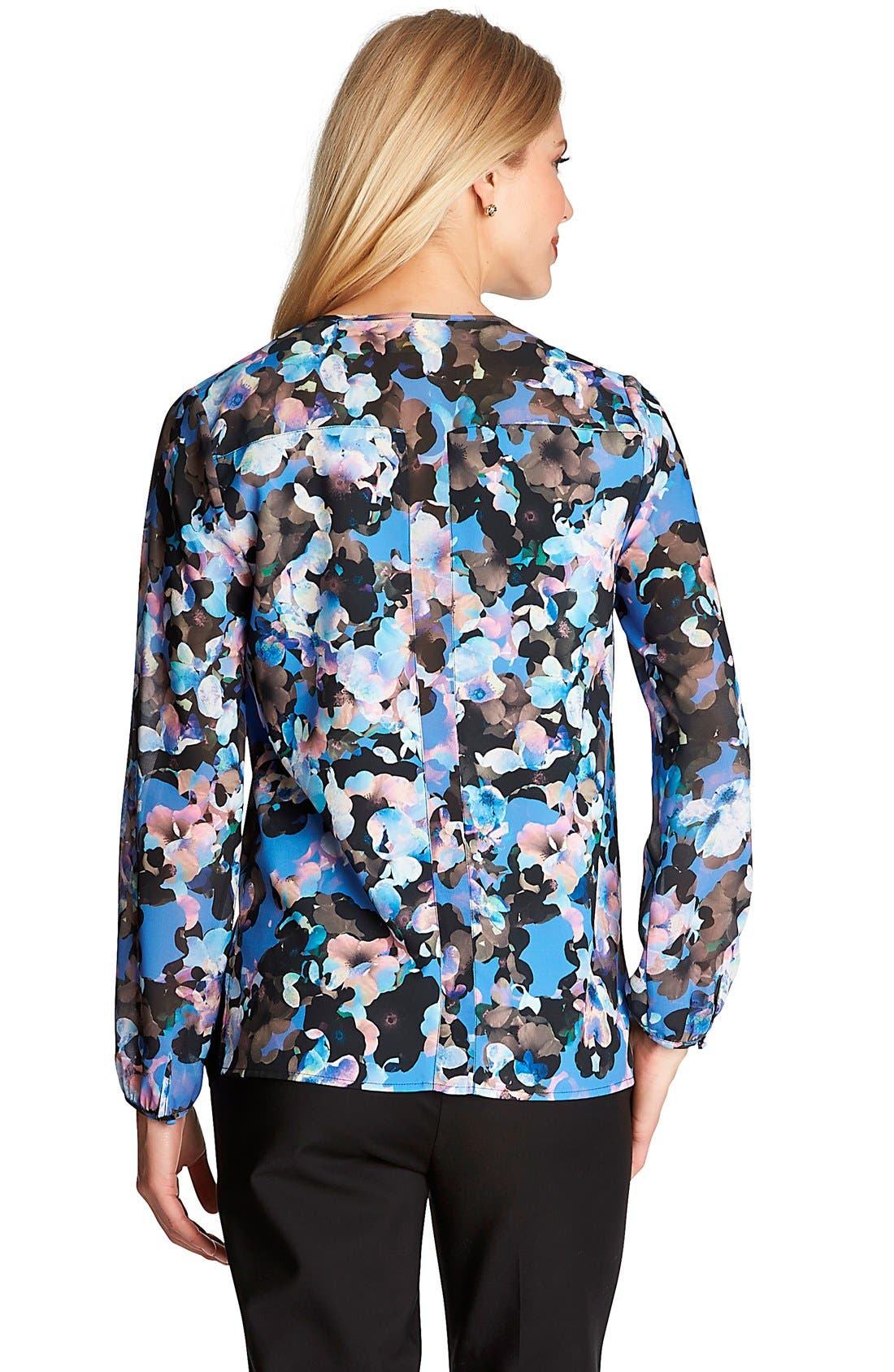 Alternate Image 2  - CeCe by Cynthia Steffe 'Floral Odyssey' Print Blouse