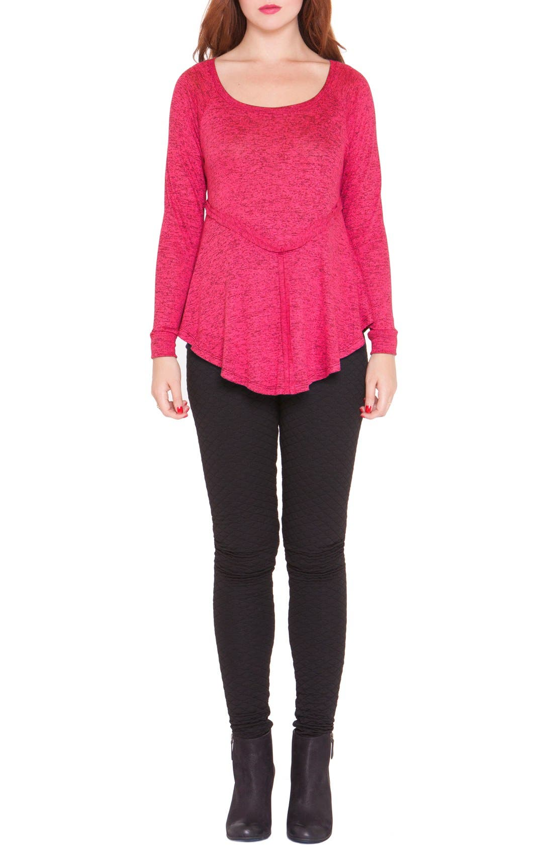 'Bridgitte' Maternity Tunic,                         Main,                         color, Pink