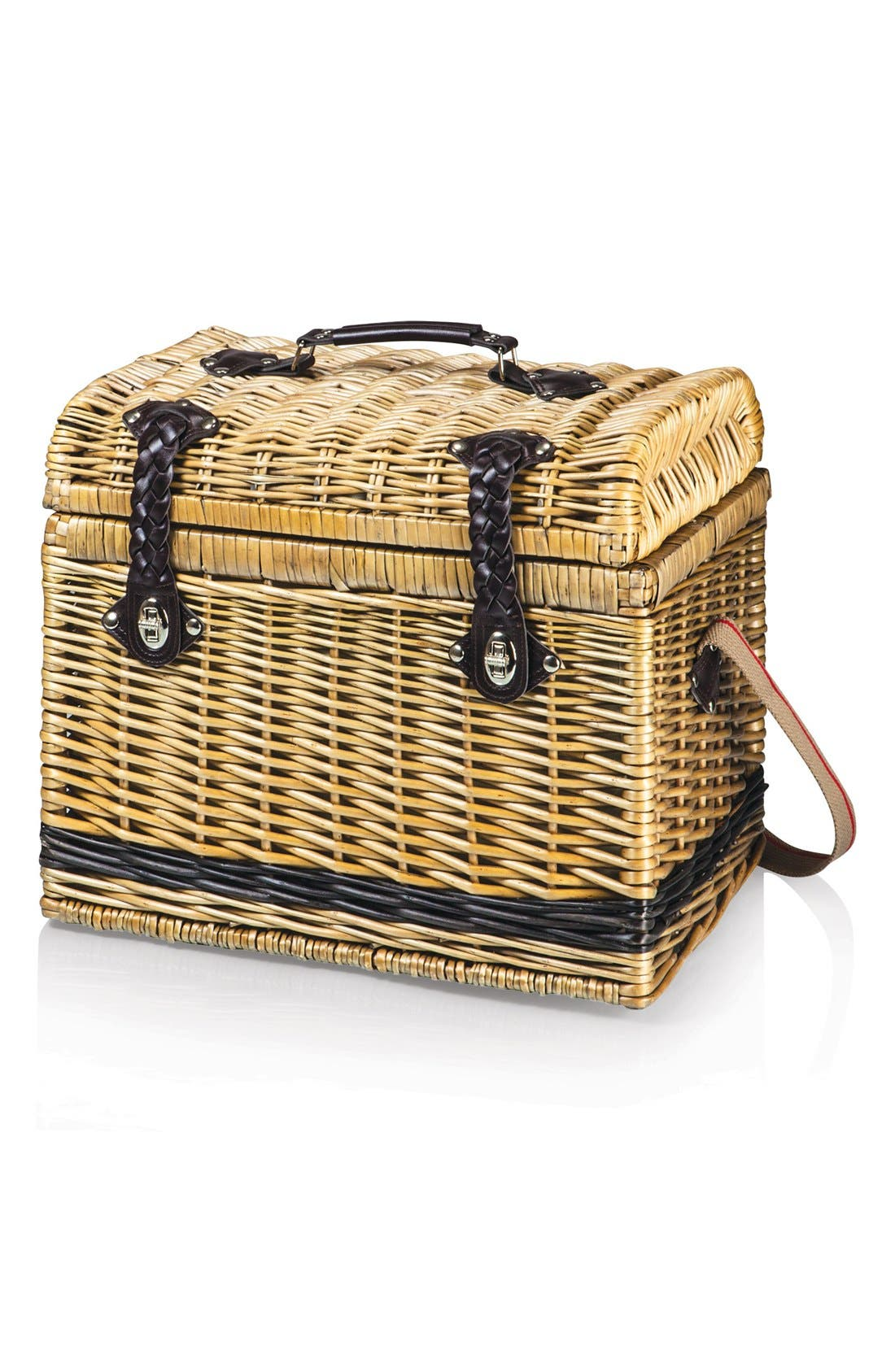 'Yellowstone' Wicker Picnic Basket,                             Alternate thumbnail 2, color,                             Brown
