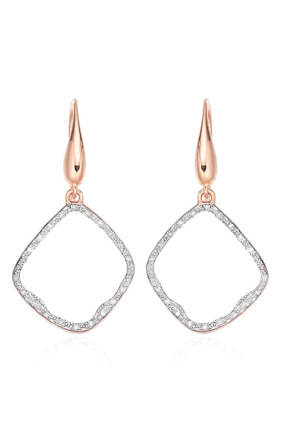 MONICA VINADER Riva Diamond Hoop Drop Earrings