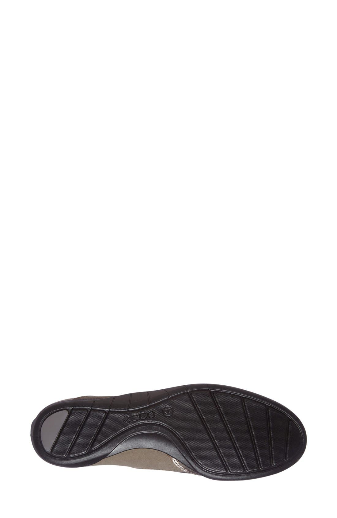 'Bluma' Sneaker,                             Alternate thumbnail 4, color,                             Grey Leather Fabric