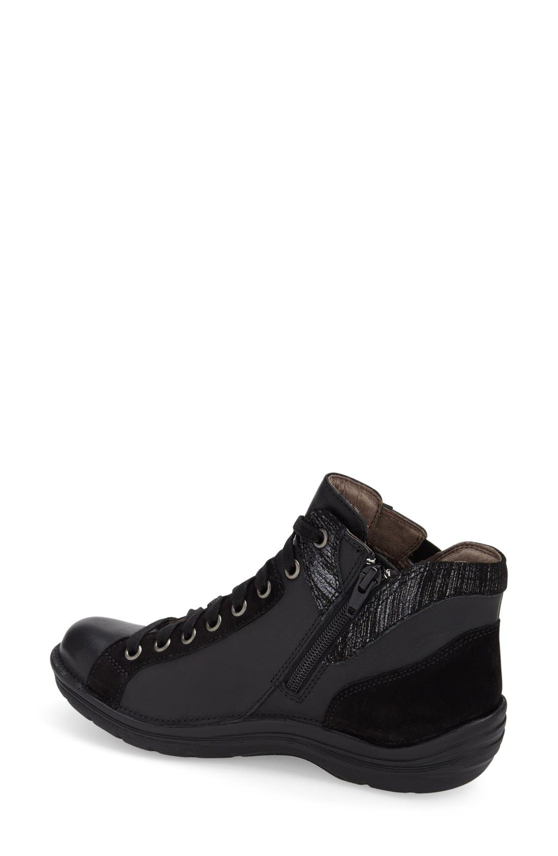 'Orbit' Boot,                             Alternate thumbnail 2, color,                             Black/ Anthracite Leather