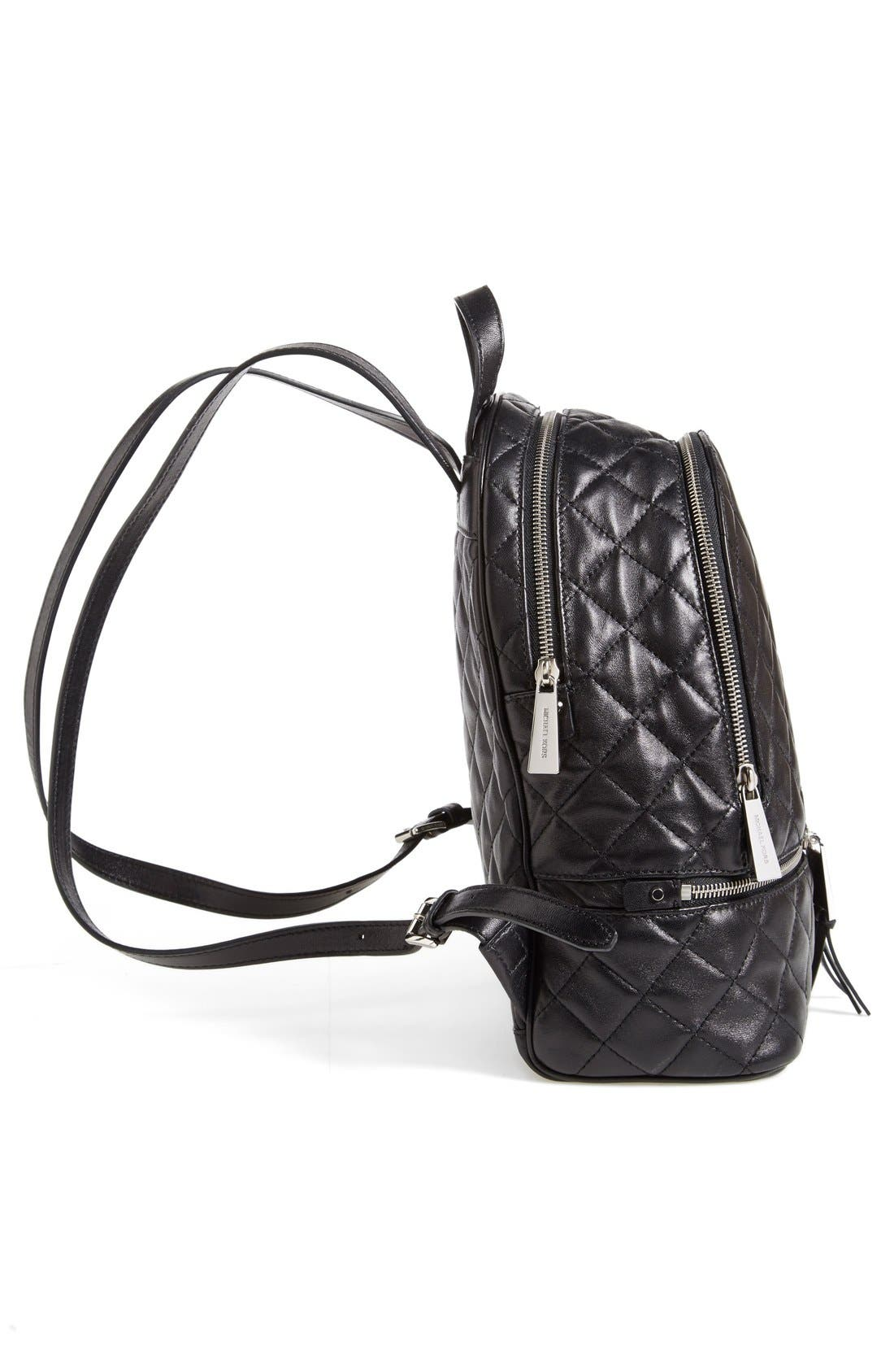 Alternate Image 5  - MICHAEL Michael Kors 'Medium Rhea Zip' Quilted Backpack (Nordstrom Exclusive)