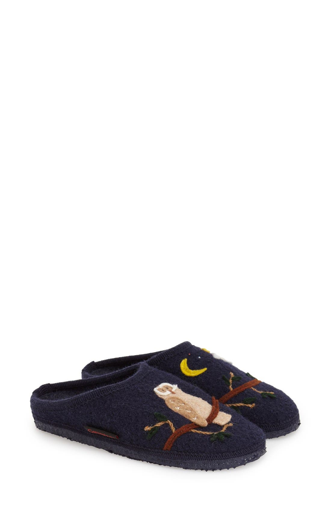 'Mado' Wool Slipper,                             Main thumbnail 1, color,                             Navy Wool