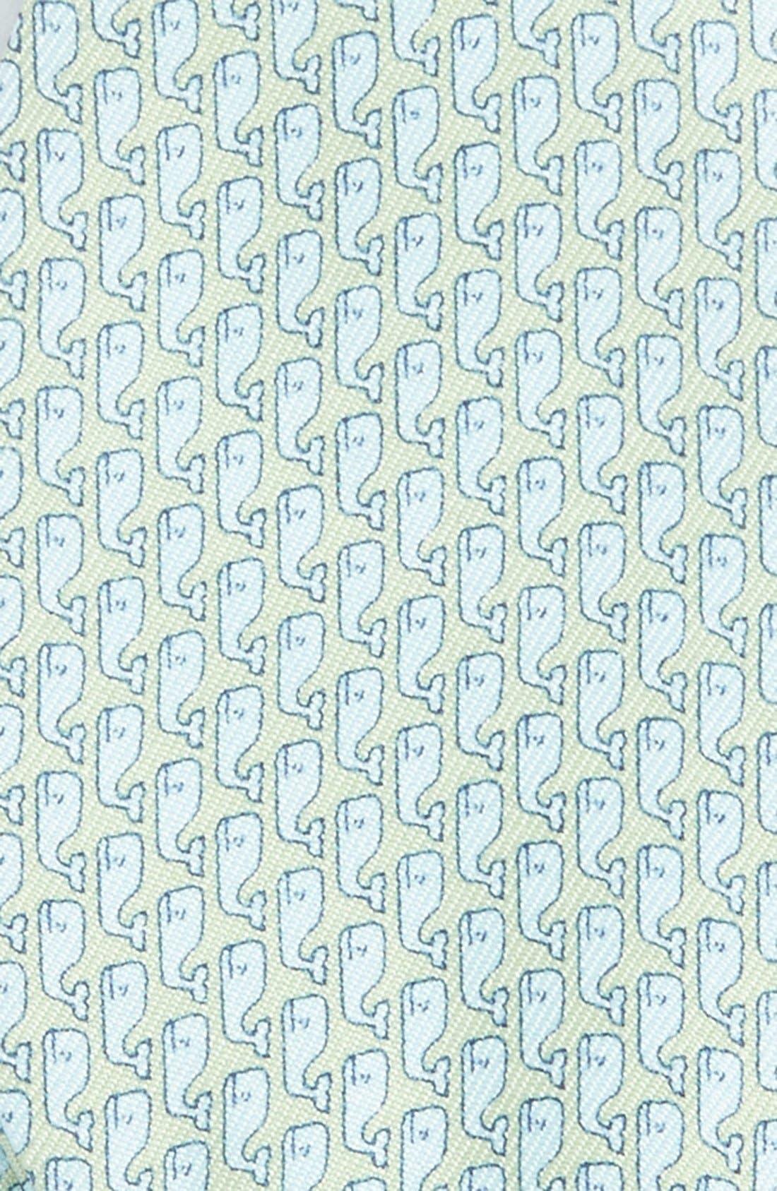 Alternate Image 3  - vineyard vines Whale Print Silk Bow Tie