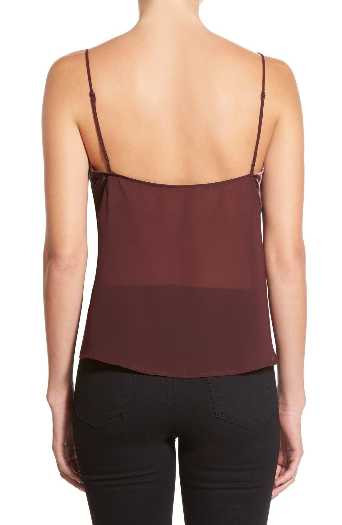 Alternate Image 2  - J Brand 'Lucy' Velvet Front Camisole