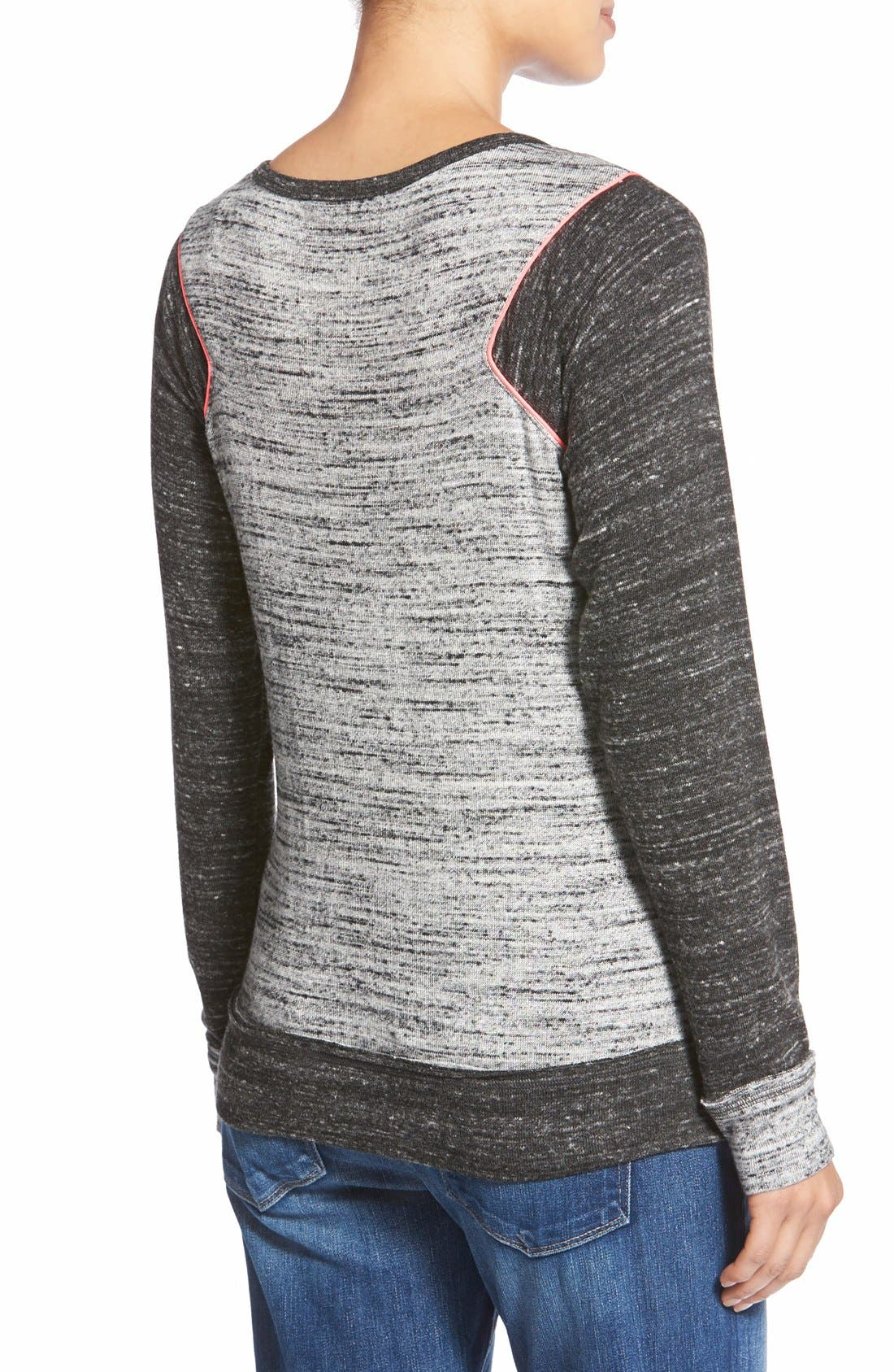 'Raelani' Stretch Jersey Maternity Top,                             Alternate thumbnail 2, color,                             Heather/ Charcoal