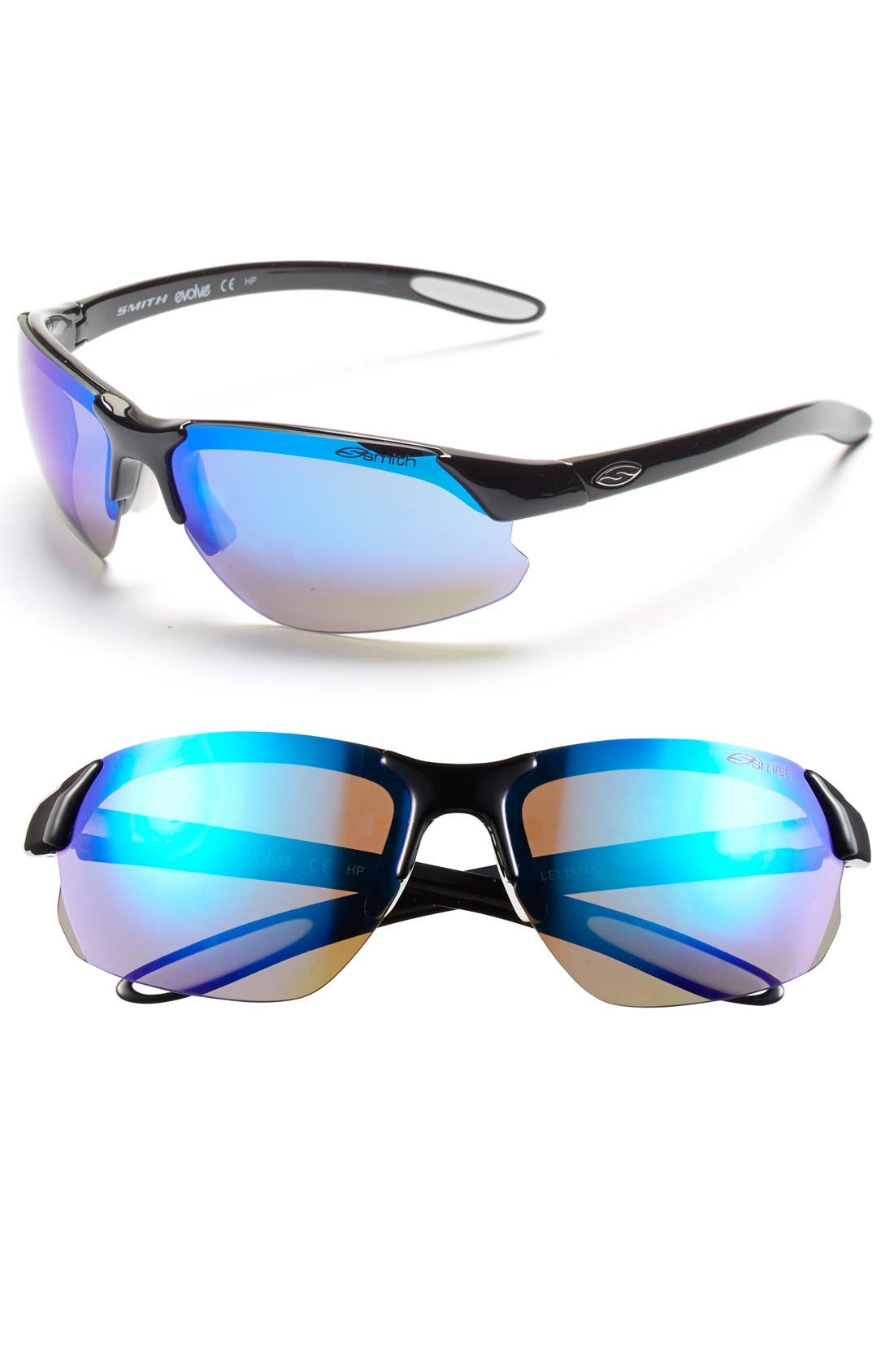 'PARALLEL D MAX' 65MM POLARIZED SUNGLASSES - BLACK WHITE/ BLUE/ CLEAR