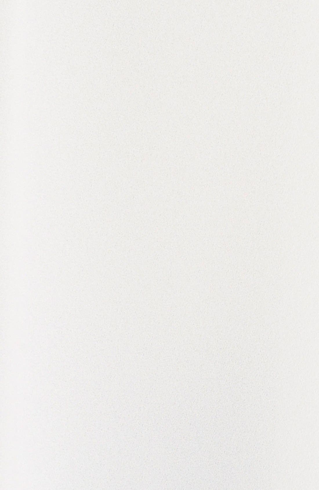 Pleat Front V-Neck Sleeveless Blouse,                             Alternate thumbnail 5, color,                             New Ivory