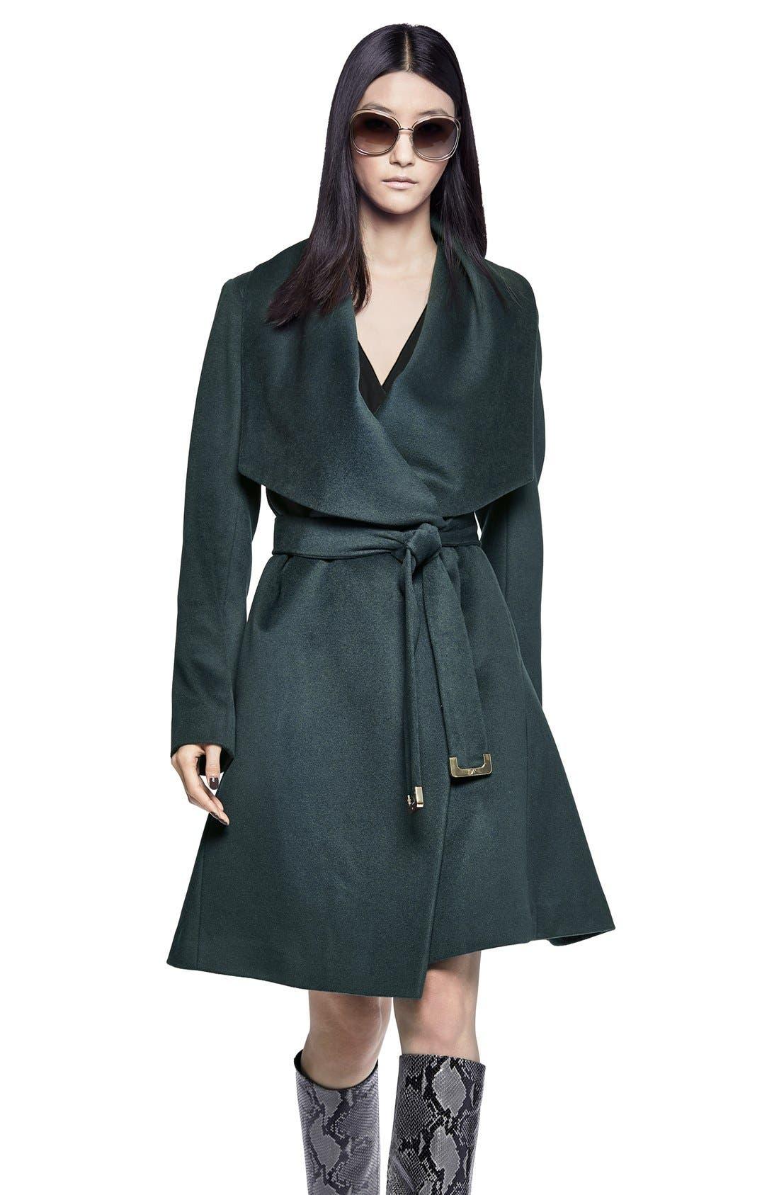 Alternate Image 4  - Diane von Furstenberg 'Harlow' Drape Collar Wool Blend Wrap Coat