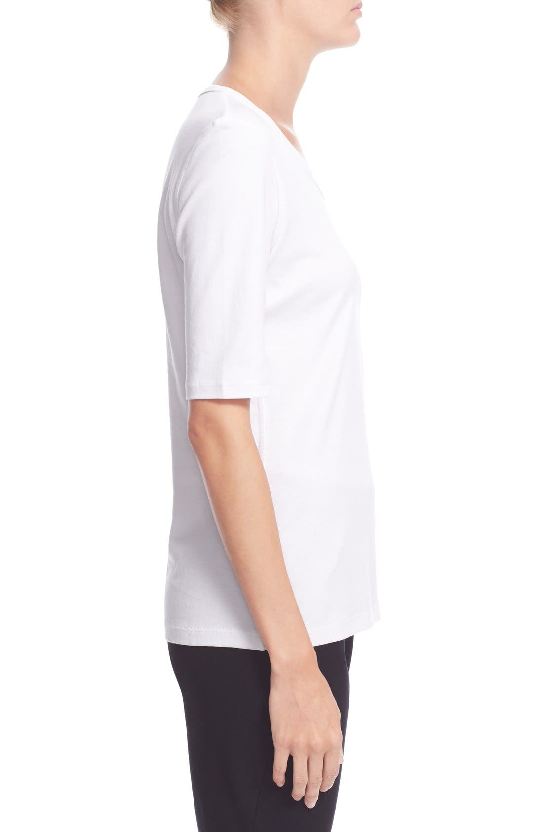 Pima Cotton Top,                             Alternate thumbnail 3, color,                             White