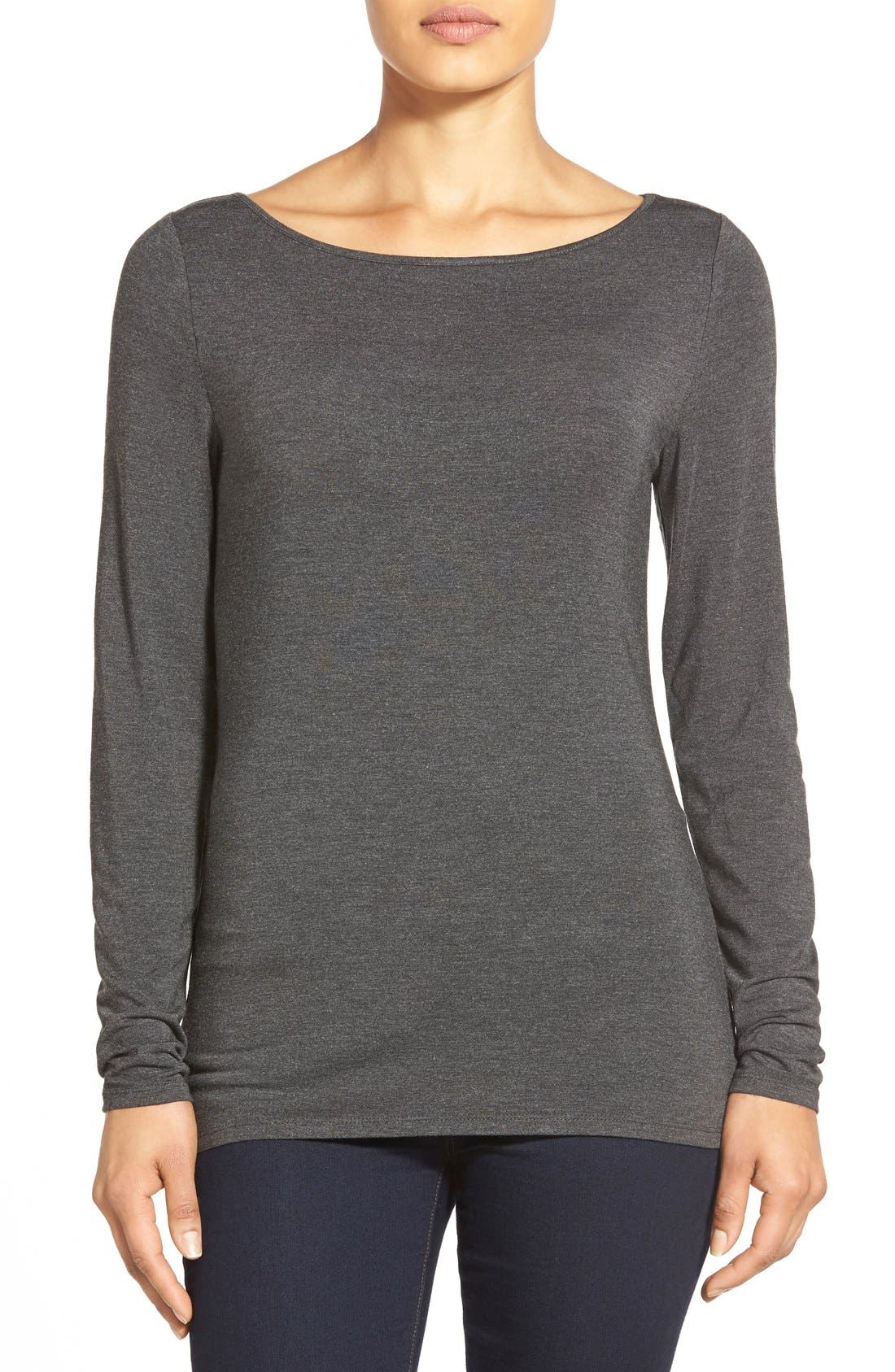 Alternate Image 1 Selected - Nordstrom Collection Modal Blend Jersey Top