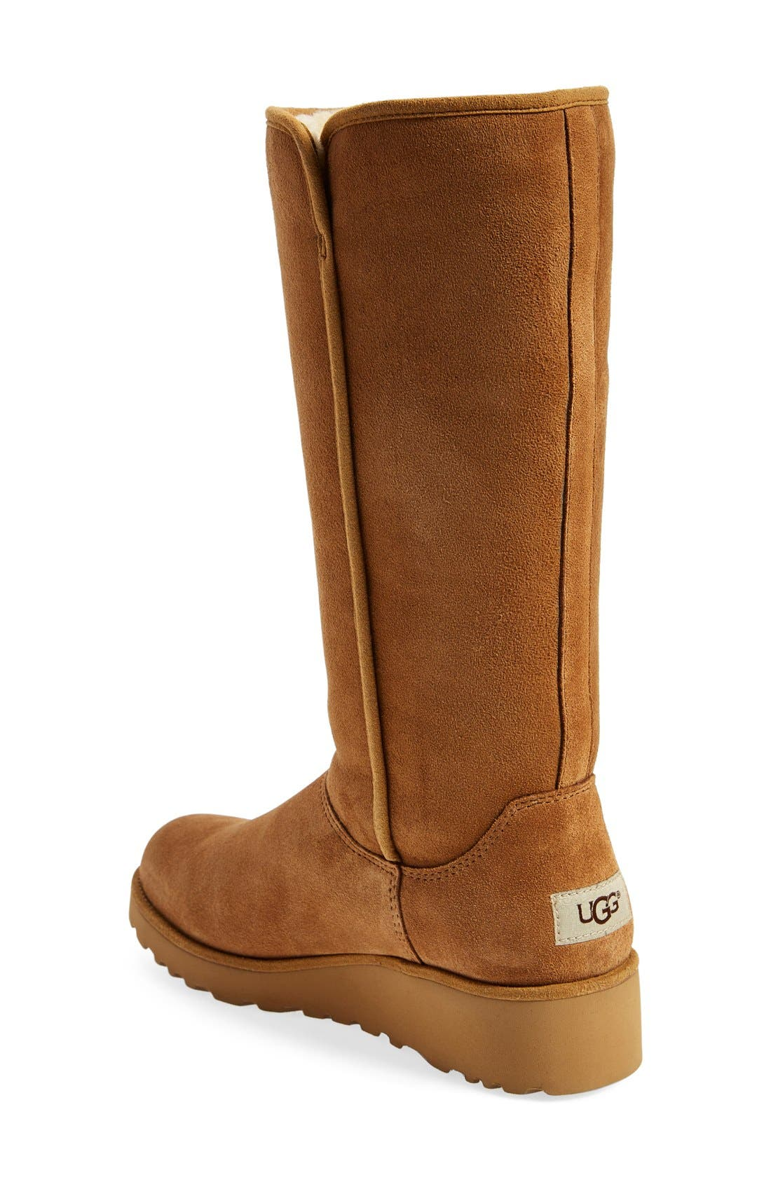 Kara - Classic Slim<sup>™</sup> Water Resistant Tall Boot,                             Alternate thumbnail 2, color,                             Chestnut Suede
