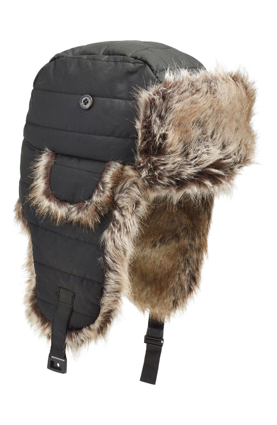 Alternate Image 1 Selected - Barbour 'Adams' Faux Fur Trapper Hat