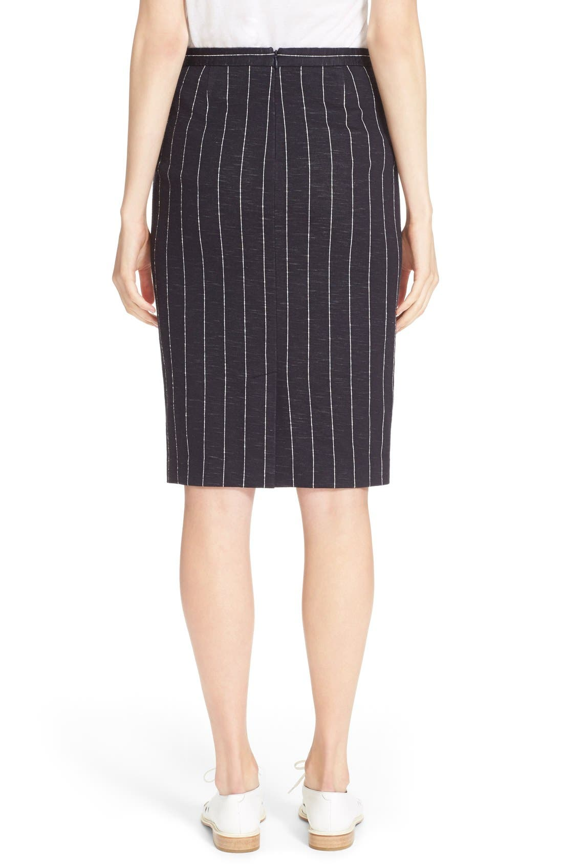 Alternate Image 2  - ATM Anthony Thomas Melillo Stripe Pencil Skirt