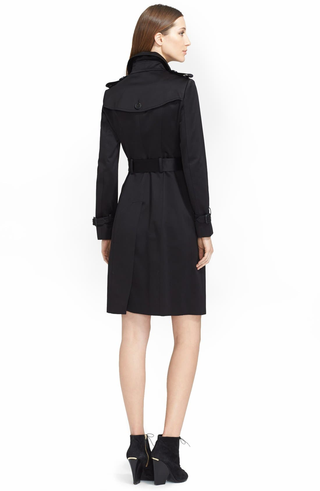 Alternate Image 2  - Burberry Prorsum Double Breasted Trench Coat