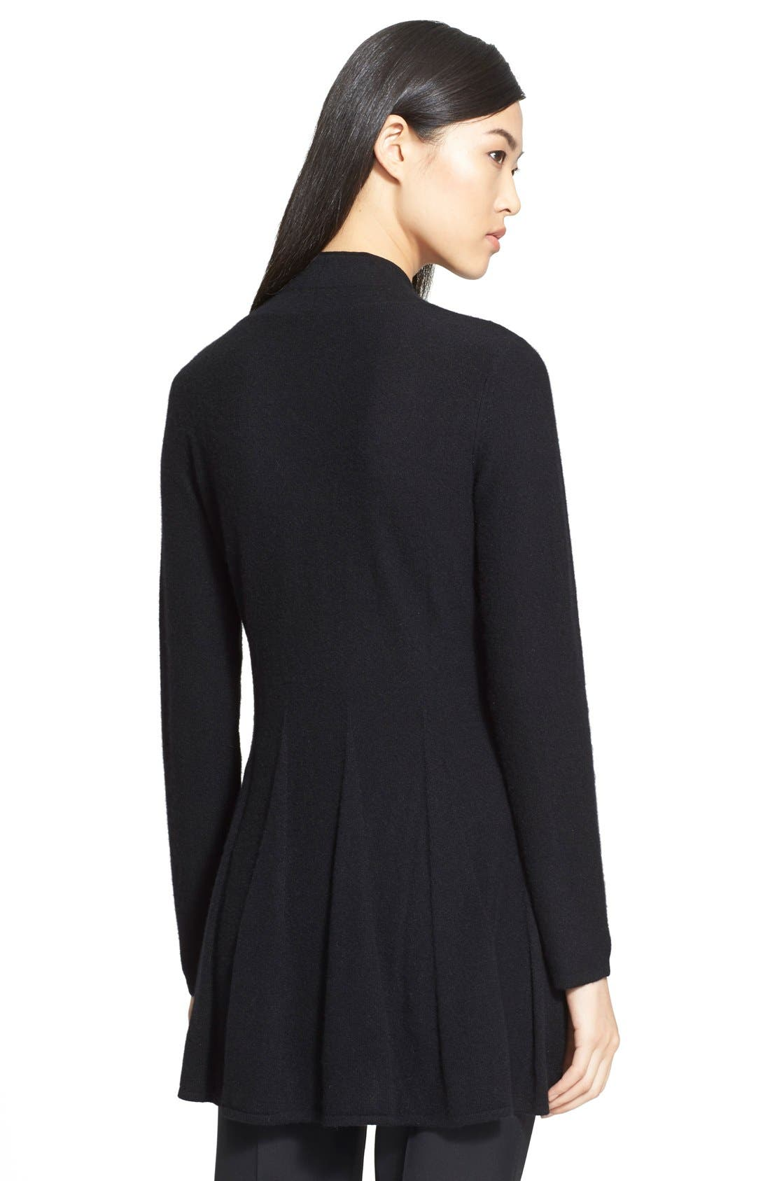 Alternate Image 2  - Armani Collezioni Godet Pleat Cashmere Cardigan