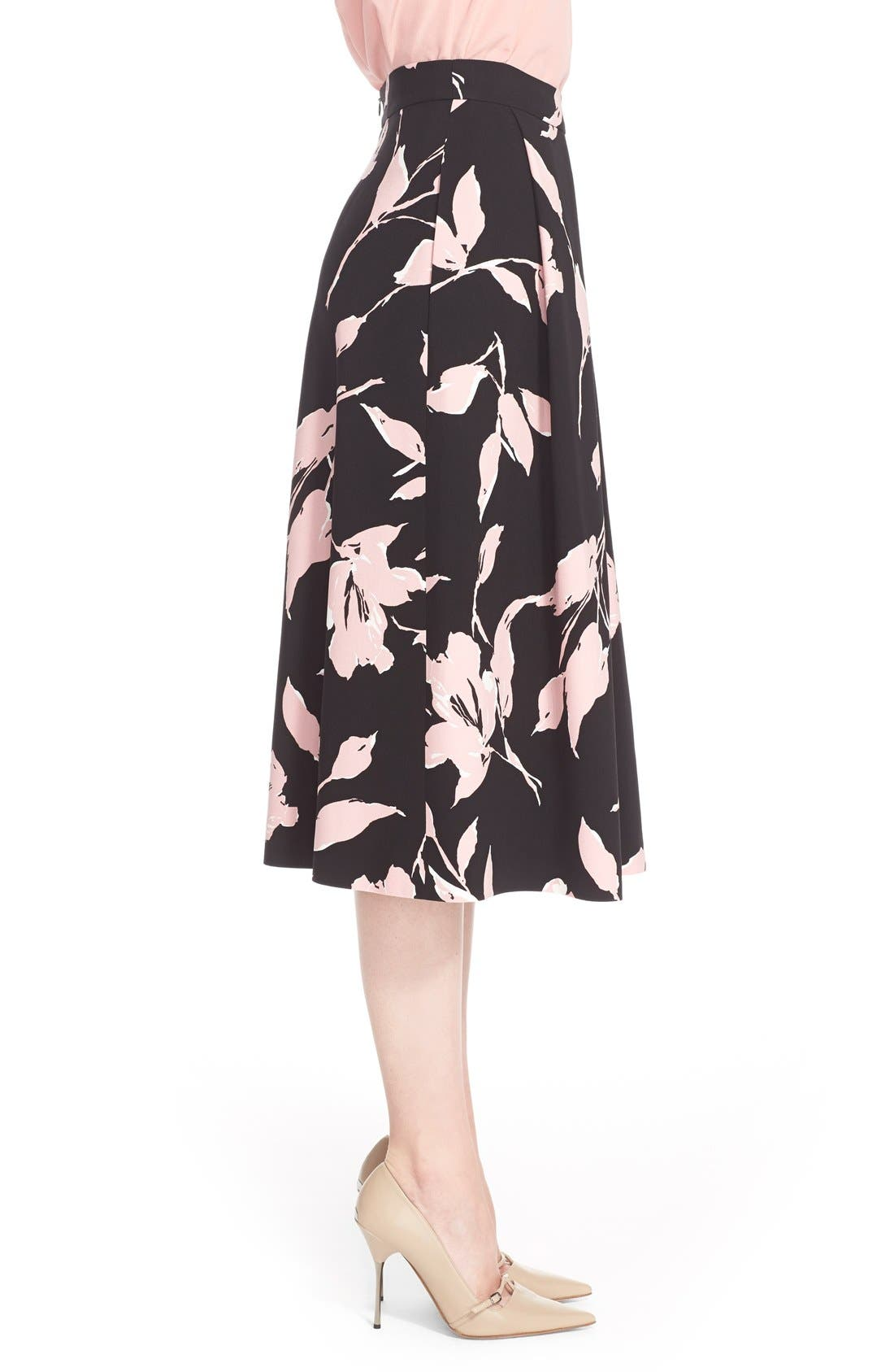 Alternate Image 5  - ESCADA French Rose Print Skirt