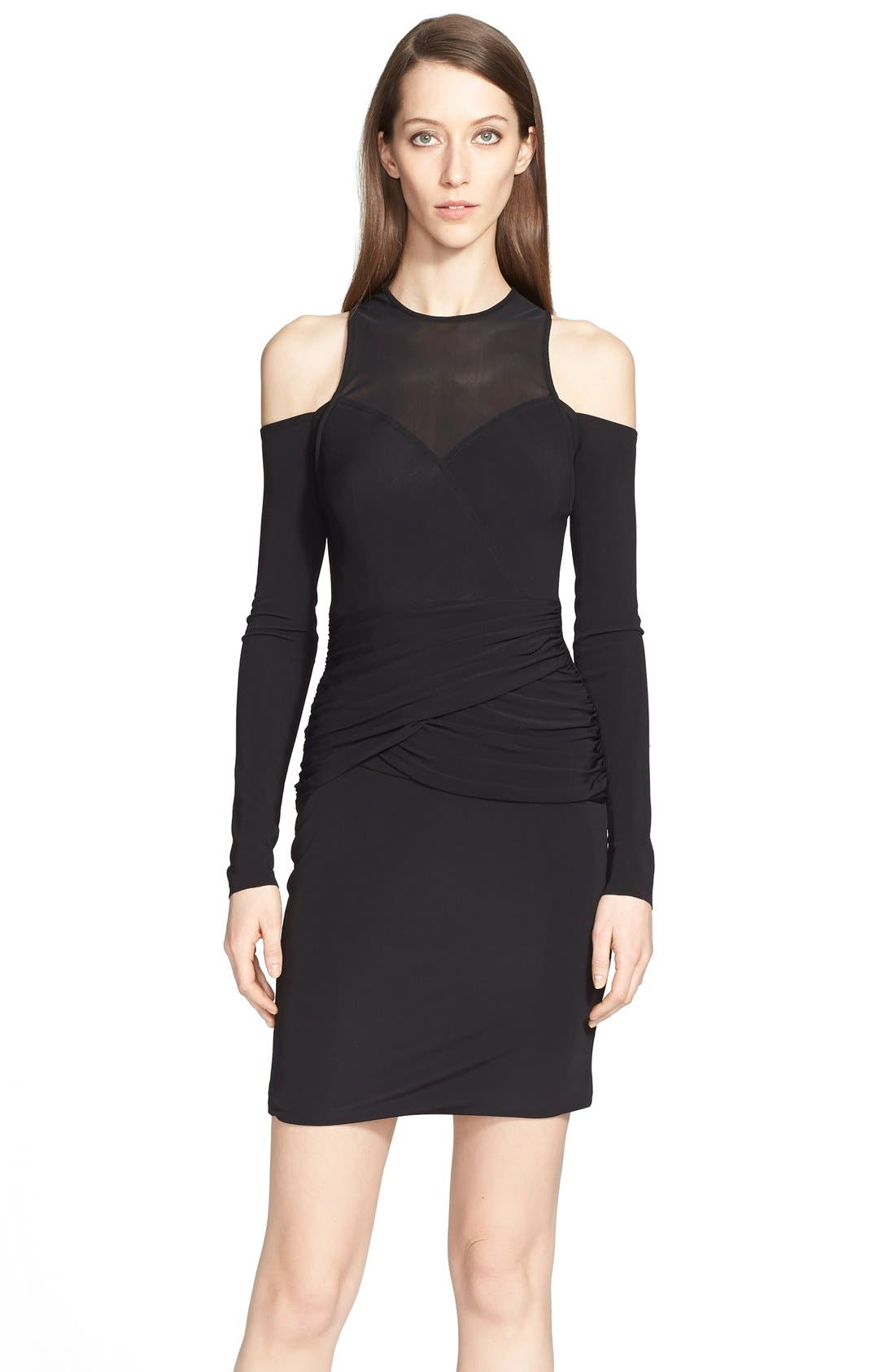 Alternate Image 3  - Yigal Azrouël Cold Shoulder Jersey Dress