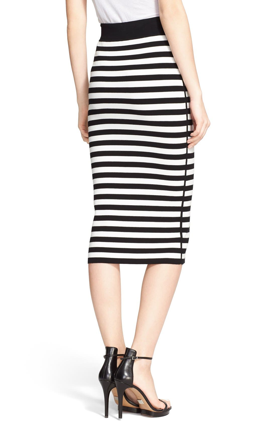 Alternate Image 2  - Michael Kors Stripe Knit Pencil Skirt