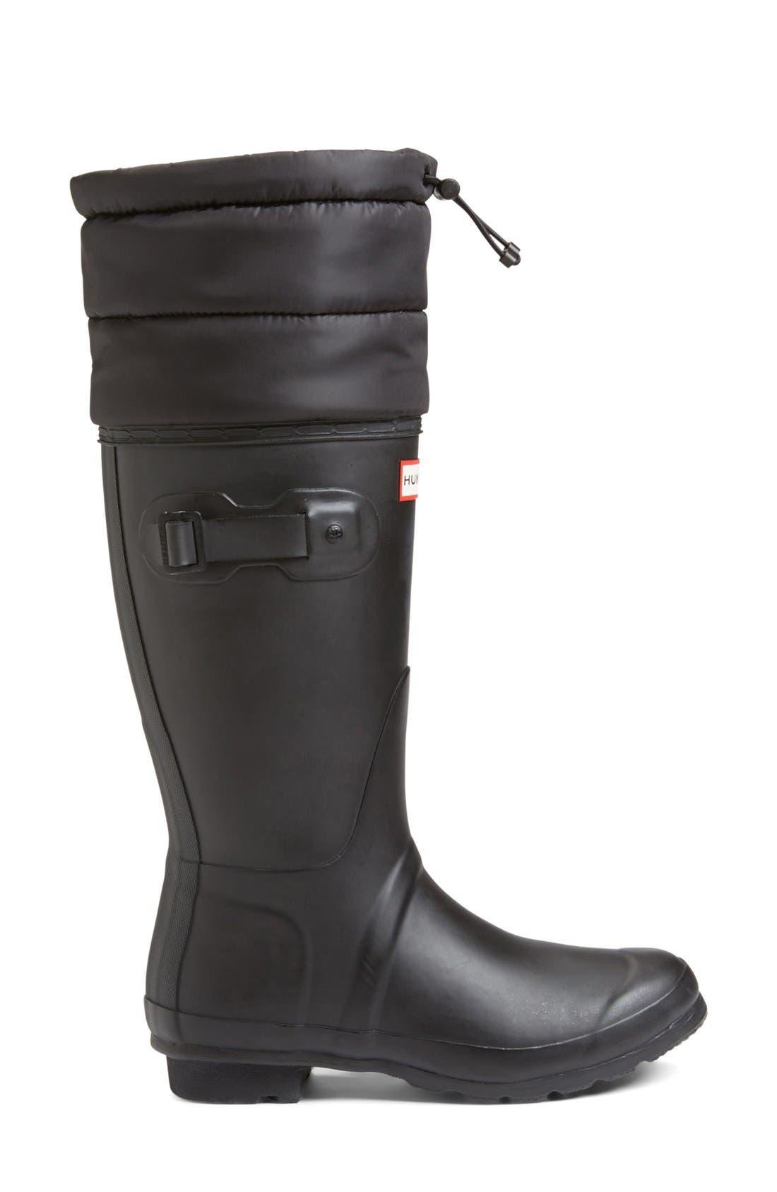 Alternate Image 4  - Hunter 'Original - Quilted Cuff' Rain Boot (Women)